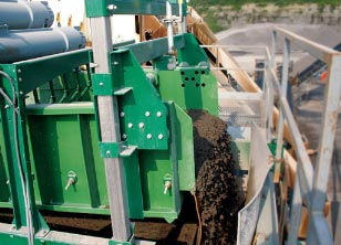 high capacity de watering screen