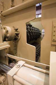 View of Crushing Rolls on a Breaker
