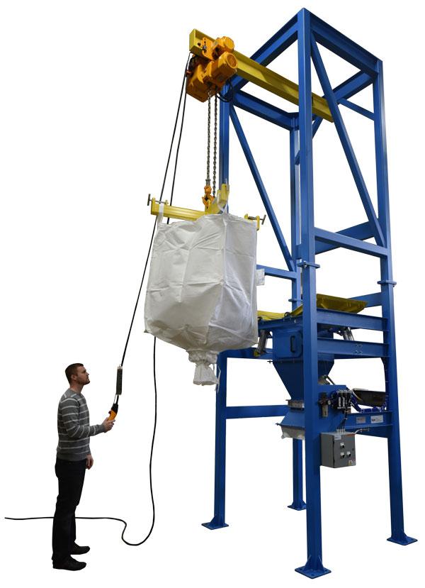 4000 pound capacity bulk bag unloader with hoist