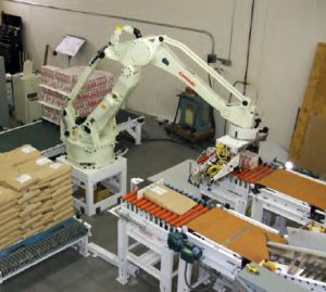 automatic bag placer for pallets