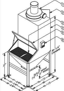 Parts for Bag Dump Station