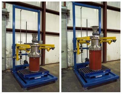 bulk bag filler with drum filling attachment