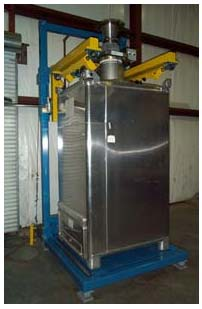 bulk bag filler with tote bin adapter