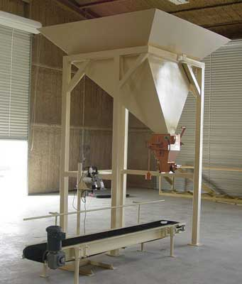 Gravity Fed Bagger Under Hopper