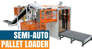 semi automatic pallet loader for valve bags and open mouth bags