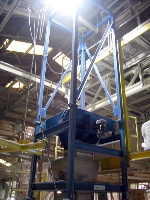 (Upper View) Bulk Bag Equipment and Unloading Station