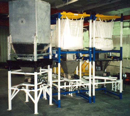 bulk bag handling equipment for chlorine additive system