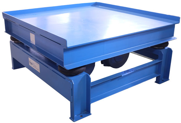 air powered and electric powered vibrating tables