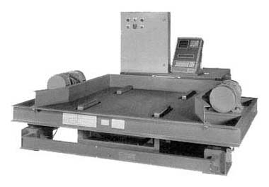 flat deck vibrating table with scale