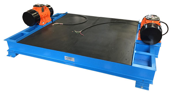 low profile flat deck vibrating table