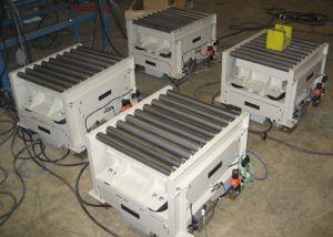 vibrating tables for powder compaction