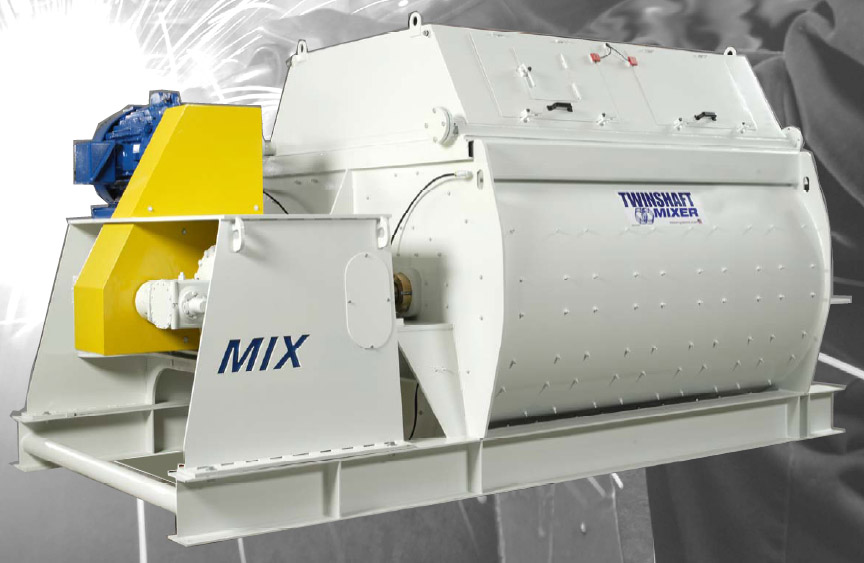 Twin Shaft Industrial Mixers