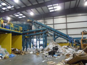 C&D Recycling System Infeed Conveyor