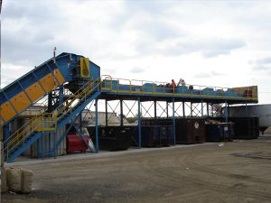 Outdoor Construction Demolition Recycling System