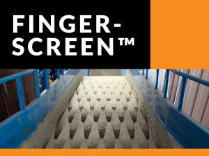 Finger screen for recycling systems
