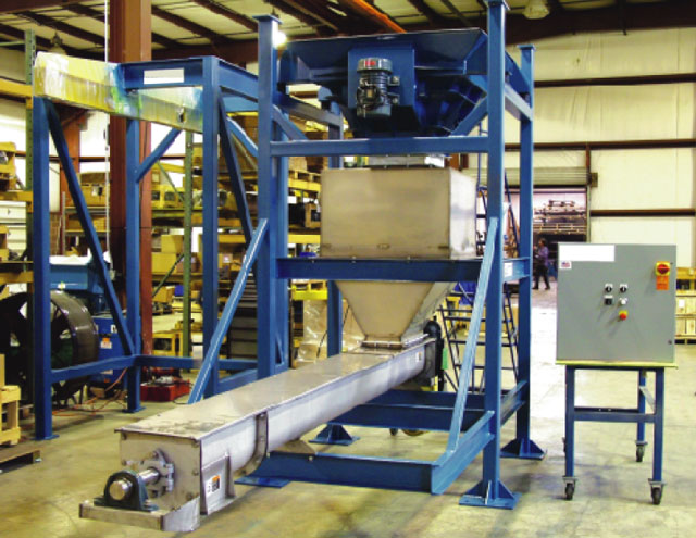 Bulk Bag Unloading System with Screw Conveyor