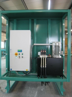 PLC controls for metering bin and storage system