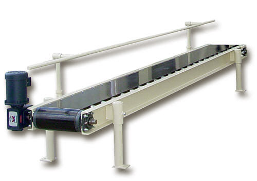 12 foot Bag Closing Conveyor with Back Rail and Variable Speed Controls