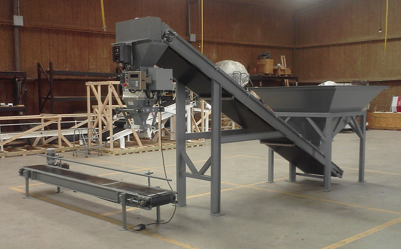 Automated Mulch Bagging Machine Bag Mulch Compost Soil