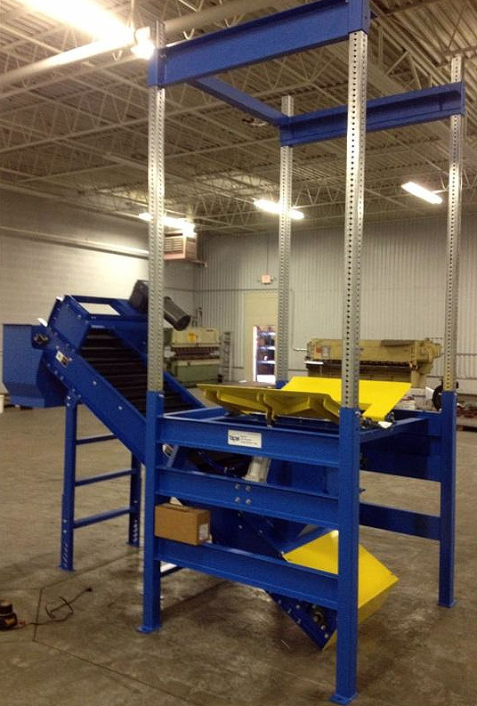 Bulk Bag Unloader with Incline Conveyor for Crumb Rubber