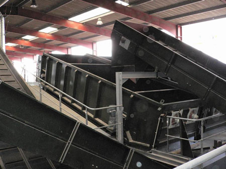 Ballistic Separator for Single Stream Recycling