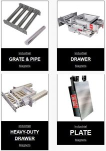 industrial magnets including grate and plate magnets