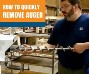 how to remove auger on auger bag filler machine