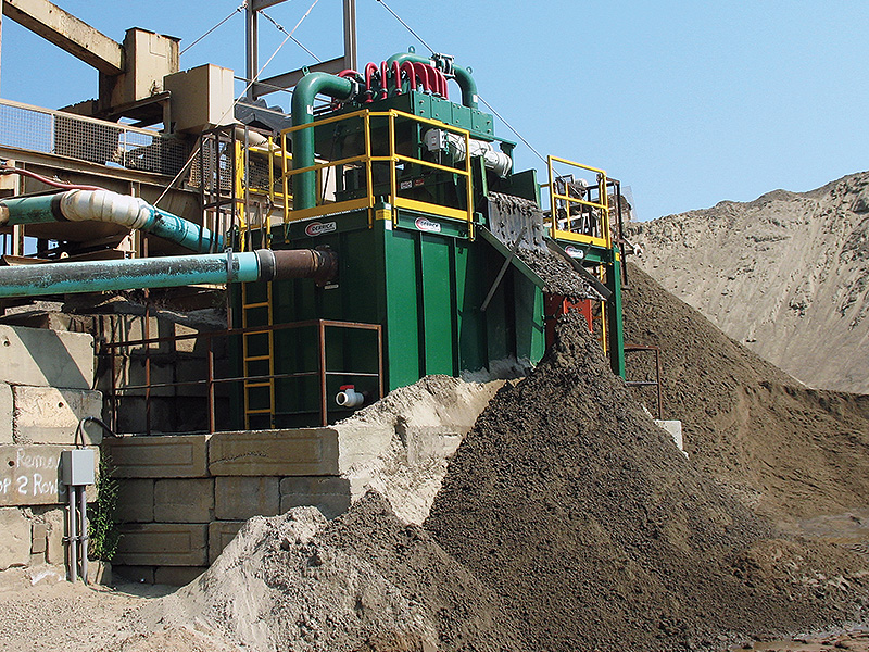 fines recovery system for aggregate and sand processing