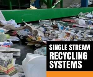 single stream recycling equipment
