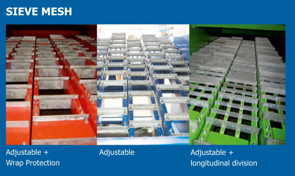 sieve mesh with wrap protection