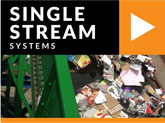 single stream recycling and sorting systems