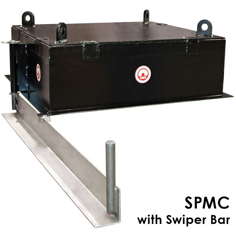 manual clean magnet with swiper bar