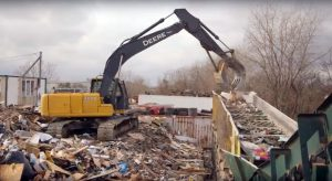 processing construction and demolition debris and material after a hurricane or flood like harvey