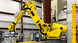 automated bagging machines and robotic palletizing equipment