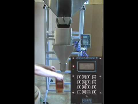 Coffee Filling Machine – model S-4 weigh fill system demonstration: 2 oz ground coffee