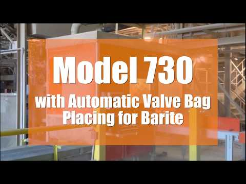 Model 730 with Automatic Valve Bag Placing for Barite