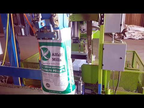Automated Feed Bagging System - 50lb. bags Alfalfa Pellets