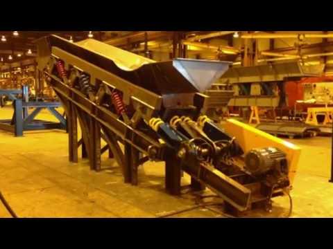 Vibrating Conveyor - large pan & trough design
