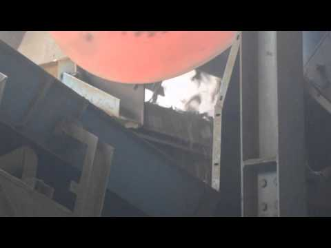 Rotating Drum Magnet at Recycling Facility