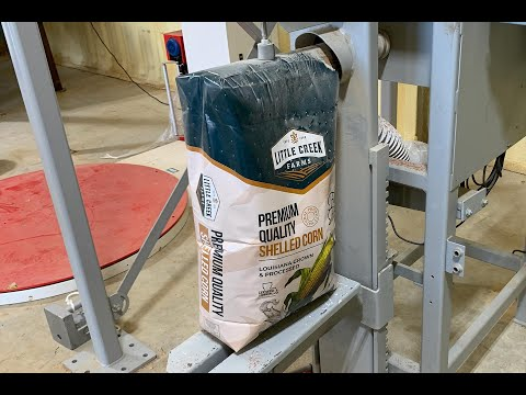 Filling 50 lb. Valve Bags with Shelled Corn