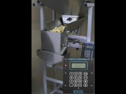 Snack Filling Machine – Logical Machines S-4 weigh fill system demonstration: 4 oz banana chips