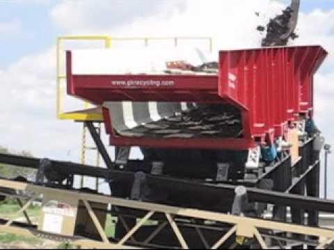 Shingles Recycling System - recycling asphalt shingles