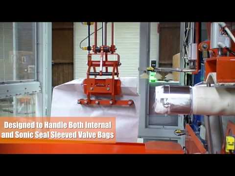 Model 230 w Spout Integrated Valve Sealer & Automatic Valve Bag Placer