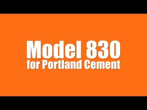 Model 830 for Portland Cement 4 Spout
