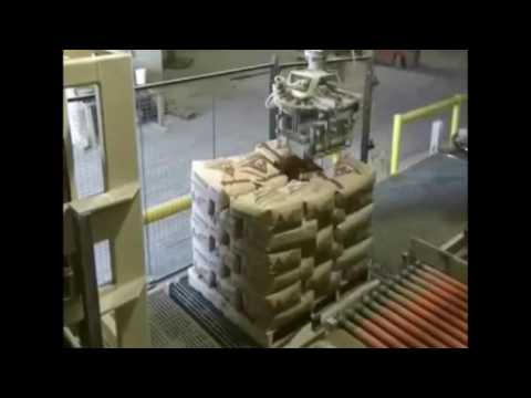 Palletizing Robot Stacks Valve Bags & Open Mouth Bags