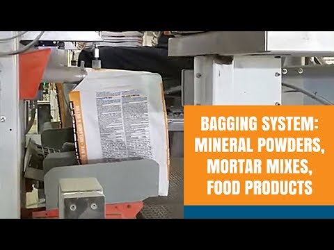 Bagging System: Mineral Powders, Mortar Mixes or Food Products