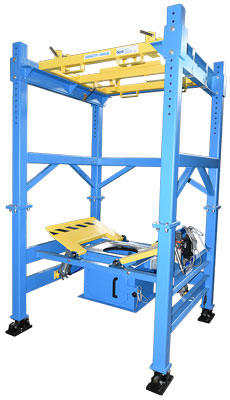 4000 pound capacity bulk bag unloader with load cells