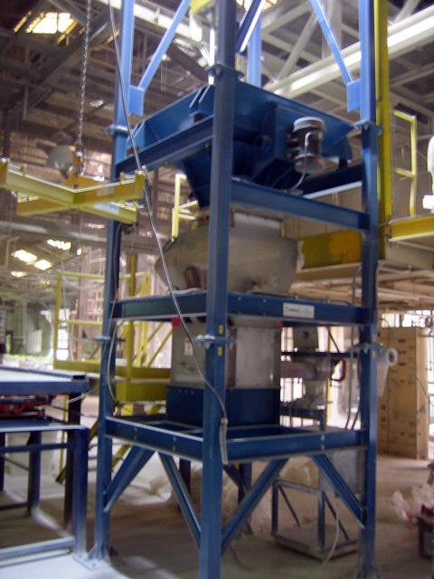 Bulk Bag Equipment to Unload Titanium Dioxide and Calcium Carbonate
