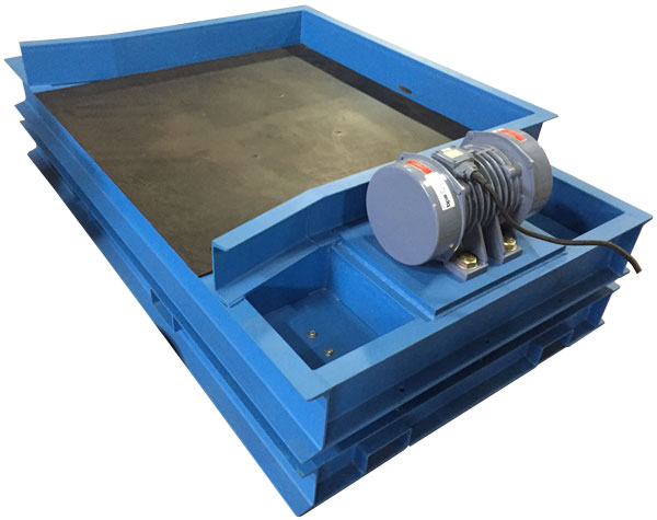 flat deck vibrating table with one vibrating motor