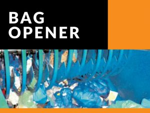bag opener for recycling systems